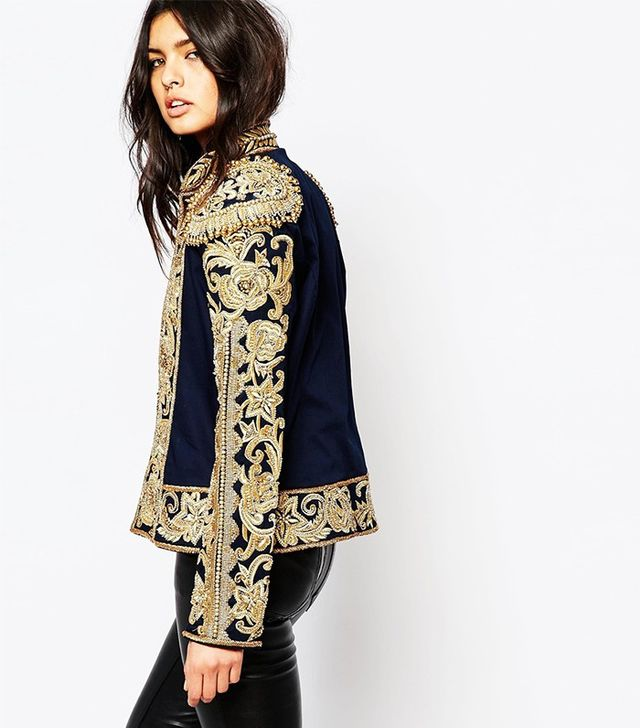 ASOS All Over Embroidered Trophy Jacket