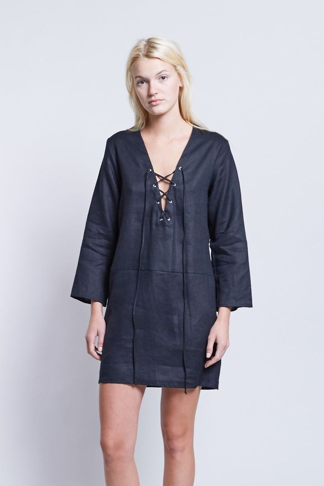 Matin Lace Up Dress