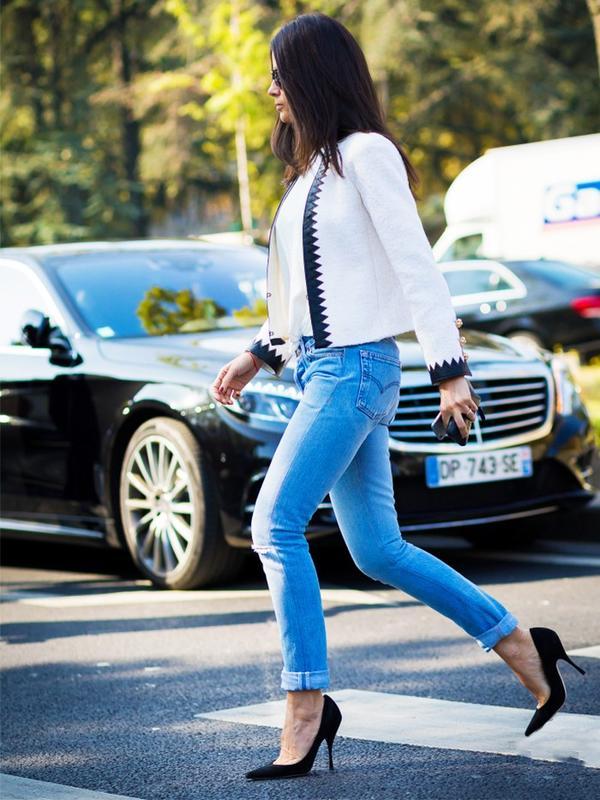 Skinnies + 1980s-Style Stilettos
