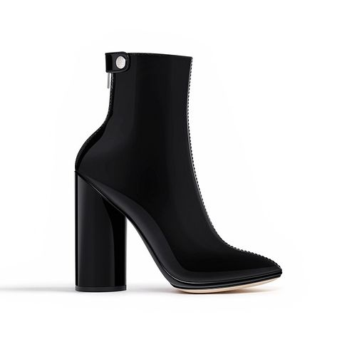 Black Patent Calfskin Ankle Boots