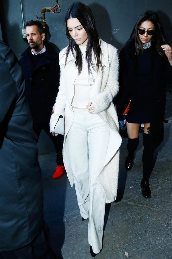 White Coat + White Separates + Black Boots