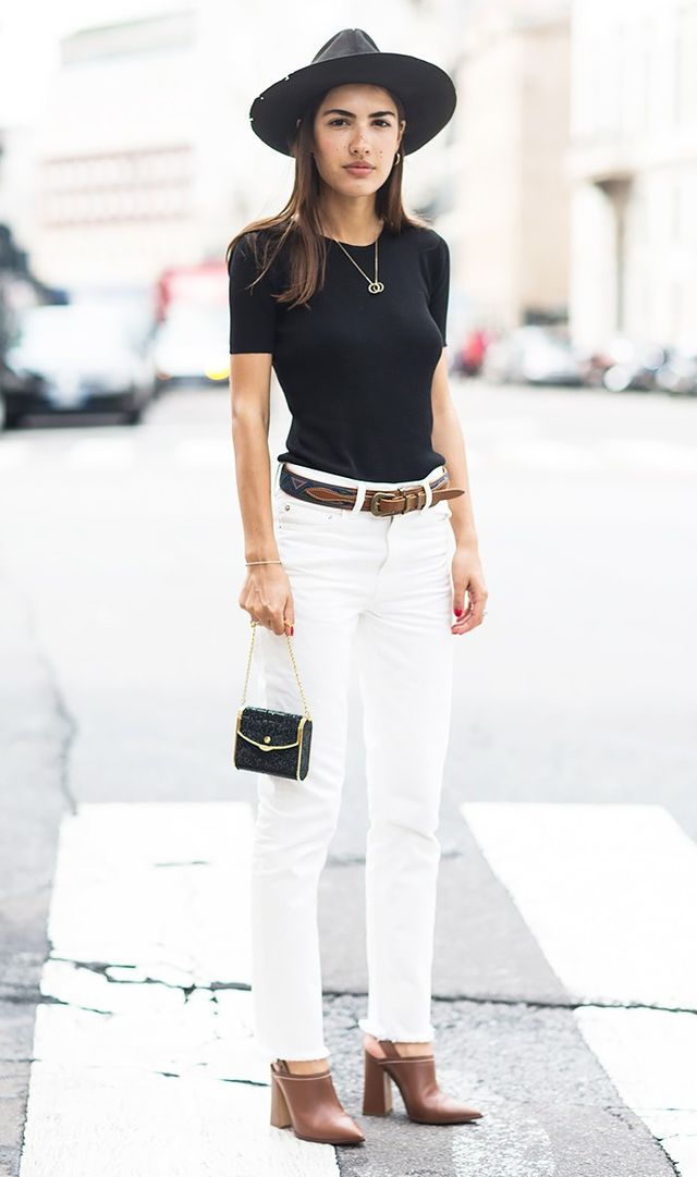 1. Avoid long tops, and tuck your shirts in any time you can.