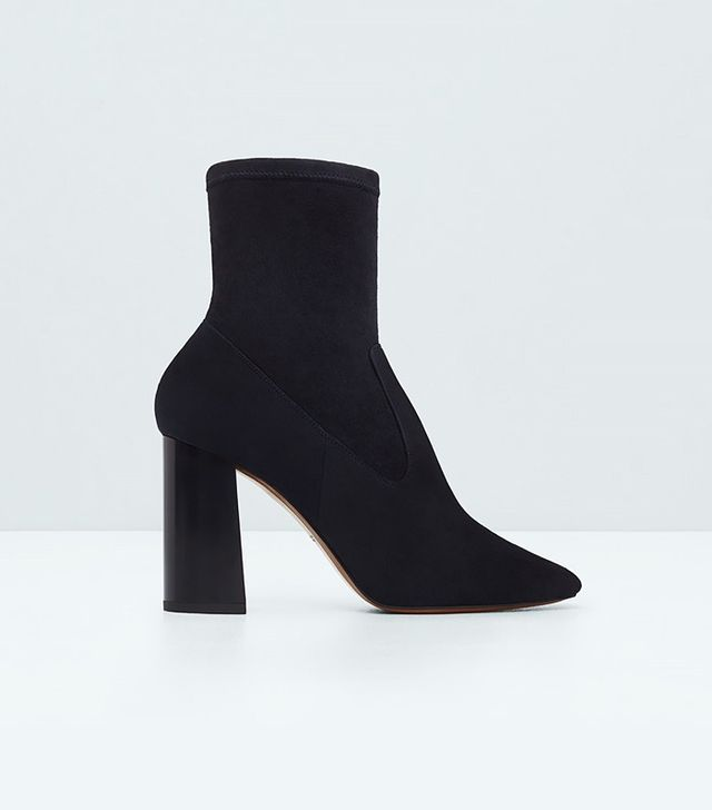 Mango Premium Leather Ankle Boots