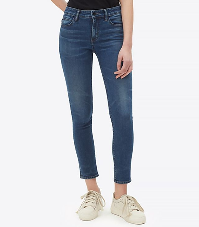Helmut Lang Medium Dirty Tint Ankle Skinny Jeans