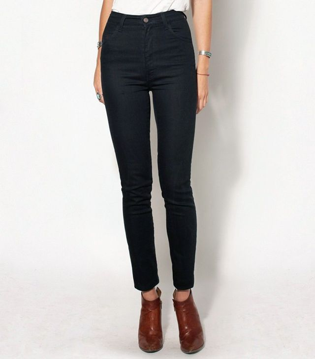 Imogene + Willie Elizabeth Black High Rise Slim Jeans