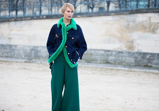 #3: Dark Denim Jacket + Tailored Trousers