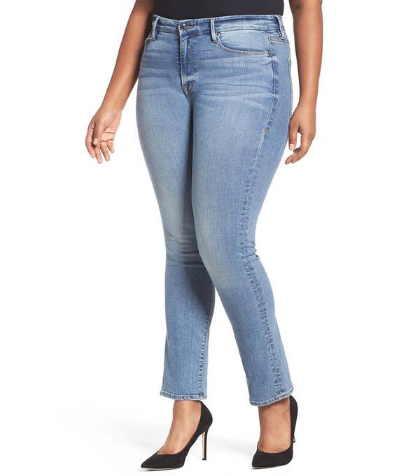 Women's Good American Good Straight High Rise Jeans