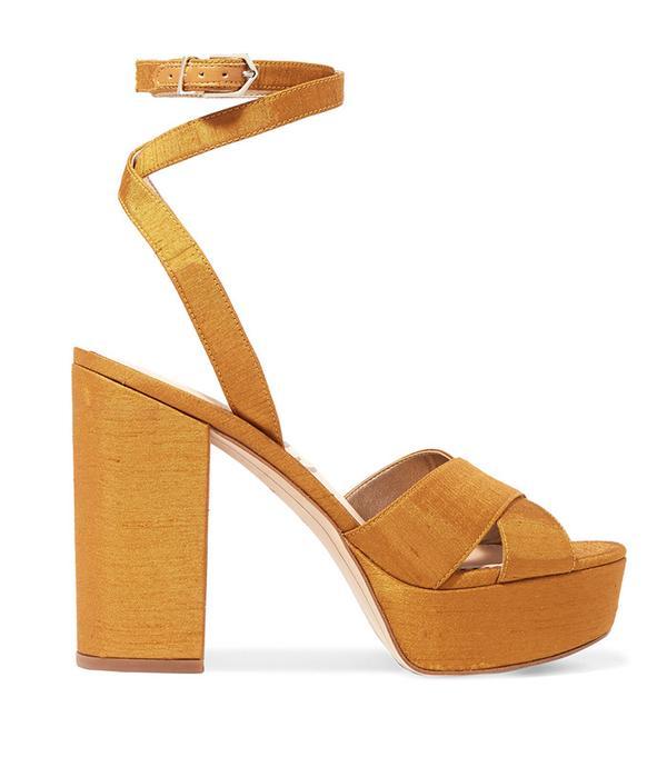 Loretta Brocade Platform Sandals