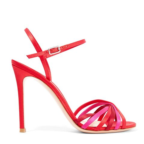 Dalida 100 Color-Block Satin Sandals