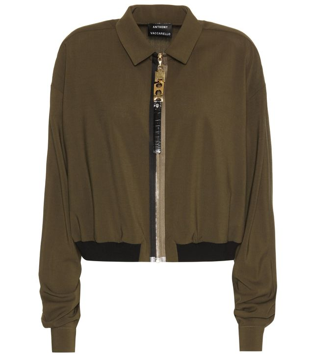 Anthony Vaccarello Wool-Blend Cropped Jacket