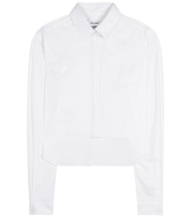 Anthony Vaccarello Cropped Cotton Shirt