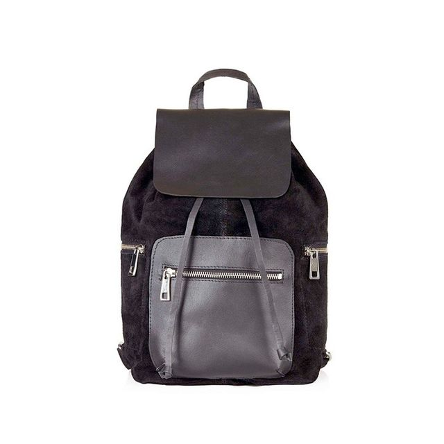 Topshop Leather and Suede Backpack