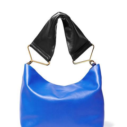 Maxi Strap Leather Shoulder Bag