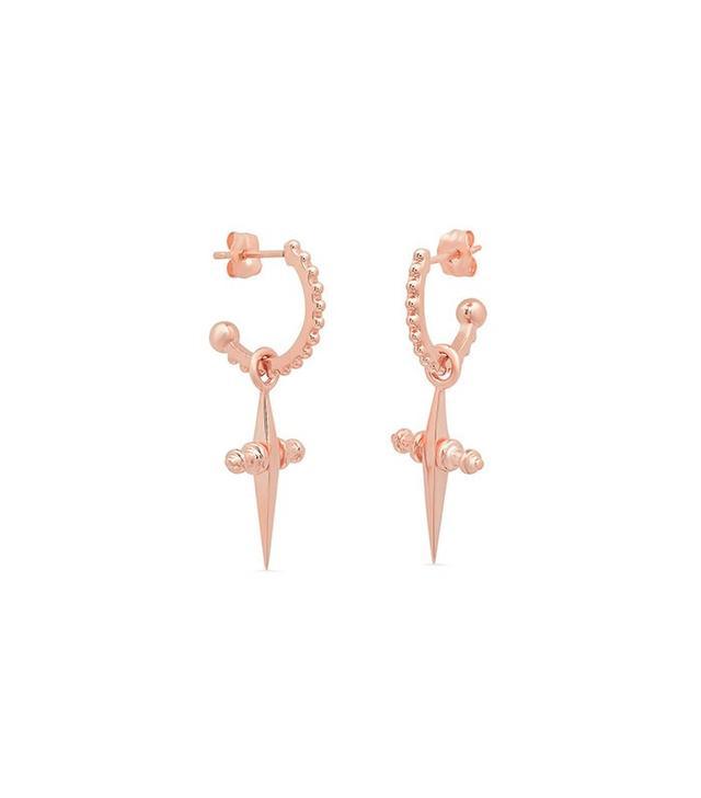 Luv AJ x Iconery Mini Cross Hoop Earrings