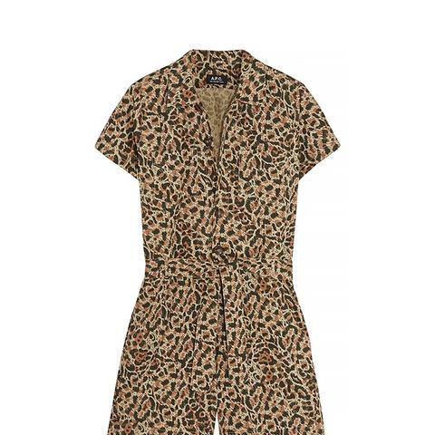Leopard-Print Playsuit