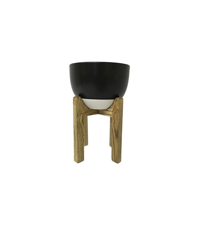 Threshold Wooden Planter Stand with Pot