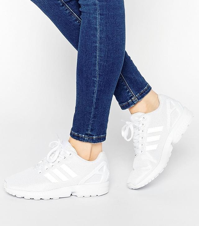 Adidas Originals White ZX Flux Sneakers