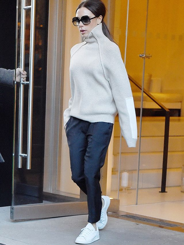 Victoria Beckham Wore the Sneakers Everyone Wants Right Now   WhoWhatWear
