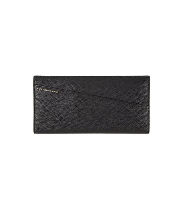 Smythson Panama Slim Travel Wallet