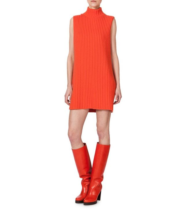 Akris Sleeveless Ribbed Cashmere Knit Tunic