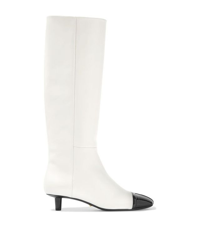 Tom Ford Two-Tone Matte and Patent-Leather Knee Boots