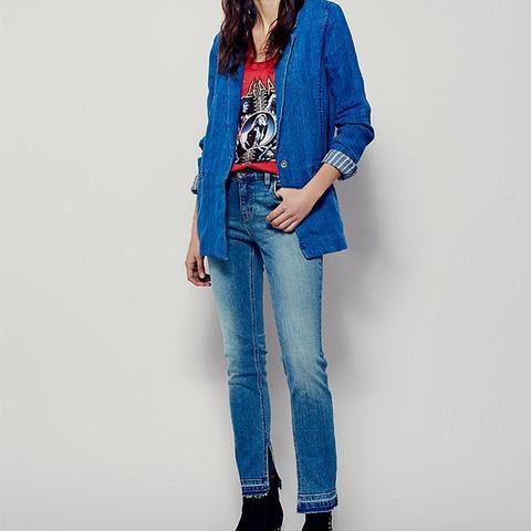 Low Rise Hem Skinny Jeans