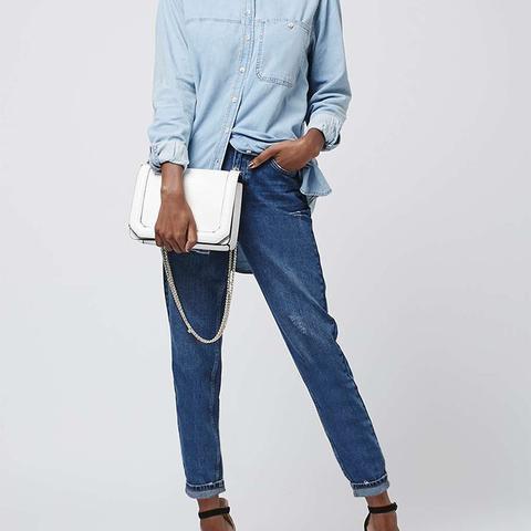 Petite Dark Blue Mom Jeans