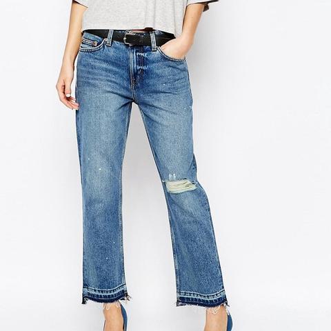 Weekday Ami Mid Rise Crop Boyfriend Jeans