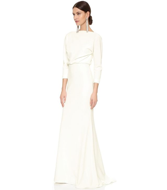 Badgley Mischka Collection It Dress Micro Rib Gown