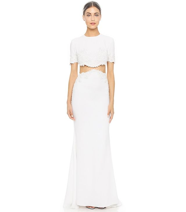 Reem Acra I'm Chic Two Piece Gown