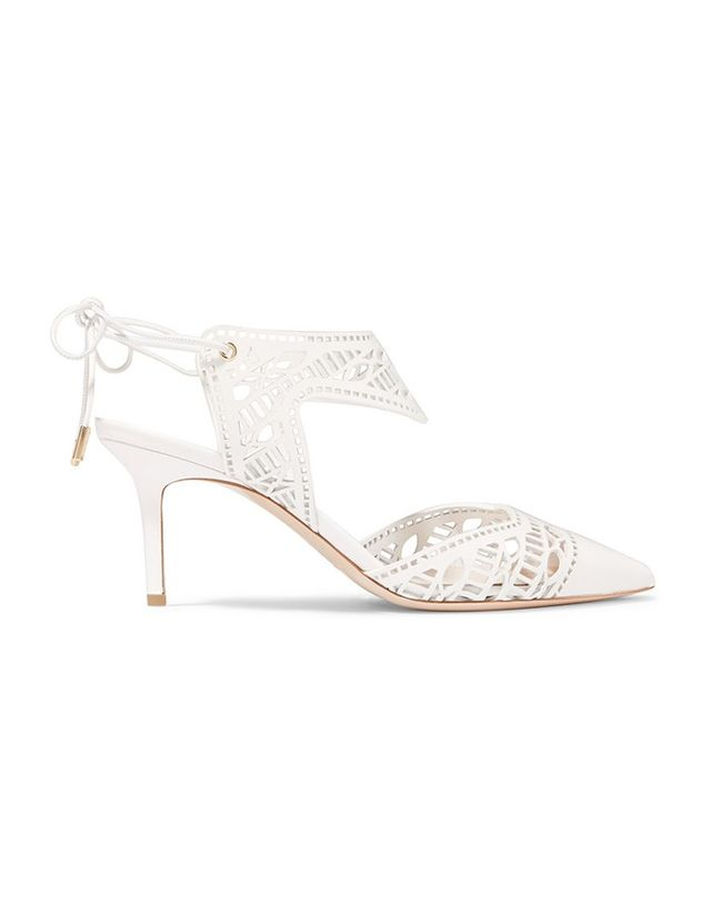 Nicholas Kirkwood Leda Laser-Cut Leather Pumps