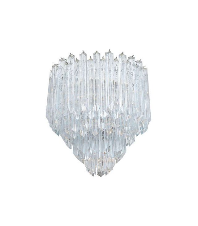 Venini Tapered Crystal Prism Tiered Chandelier