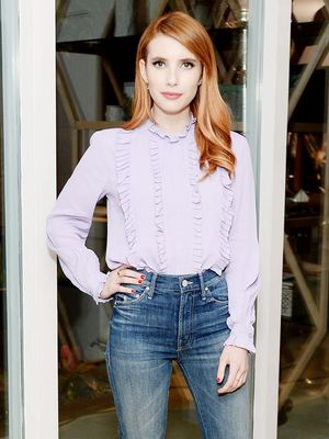 Emma Roberts Just Wore One of the Biggest Denim Trends of the Season