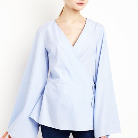 Striped Wrap Kimono Shirt
