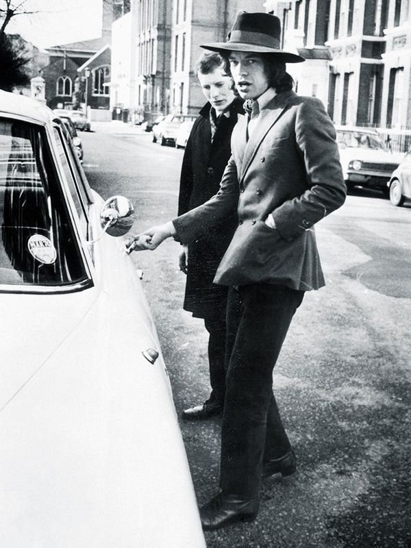 The street style king before there was even street style: Here's Mick looking pretty swish in 1970s London.