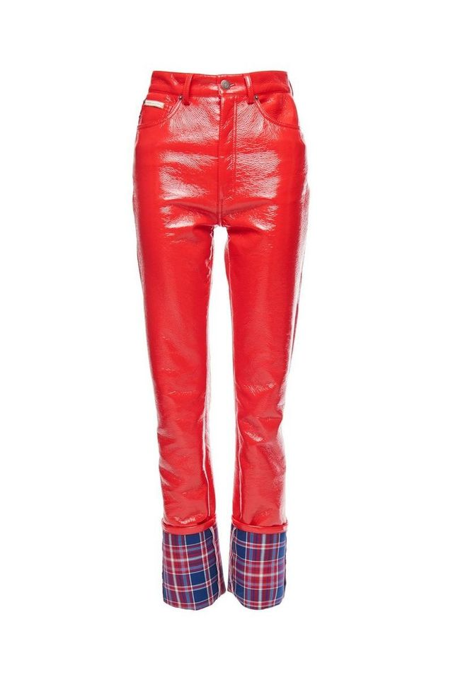 Marc Jacobs Highrise Stovepipe Pleather Pants