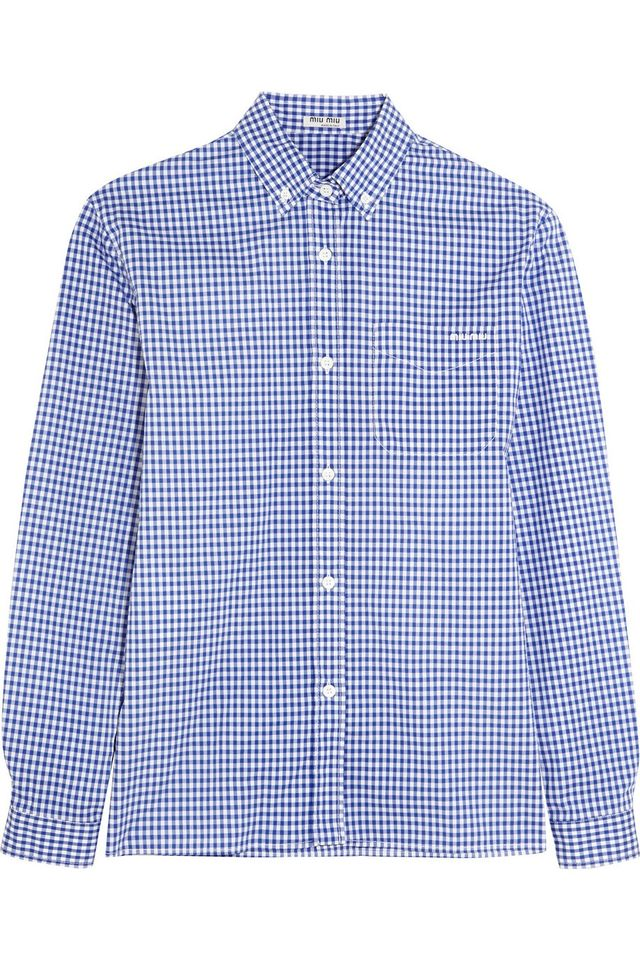 Miu Miu Cotton-Poplin Shirt