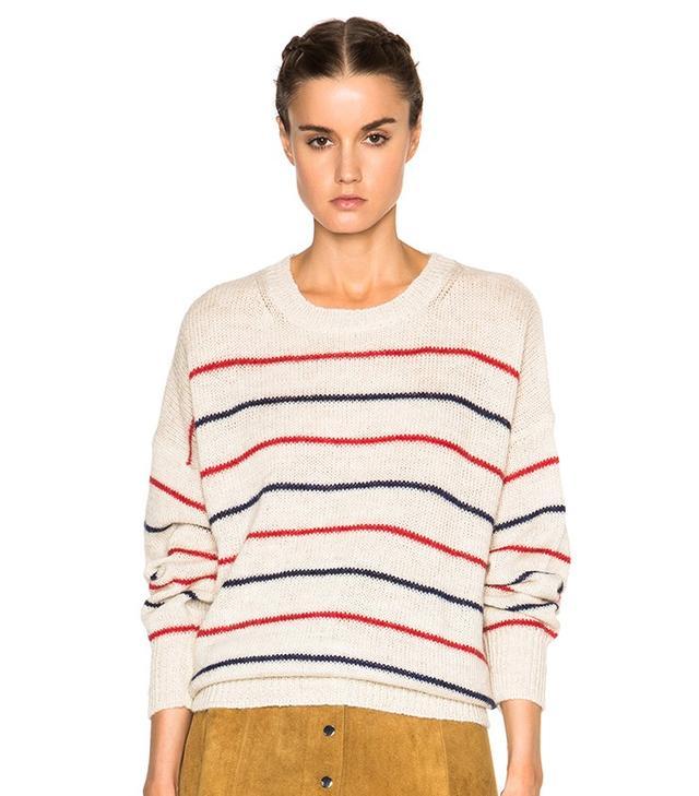 Isabel Marant Étoile Gatland Striped Alpaca Knit Sweater