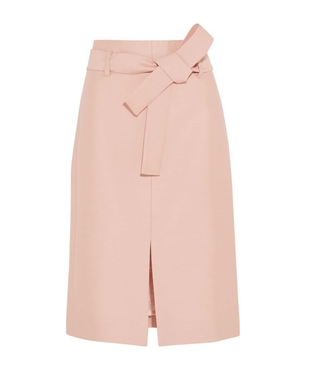 J.Crew Collection Leslie Wool and Silk-Blend Faille Skirt