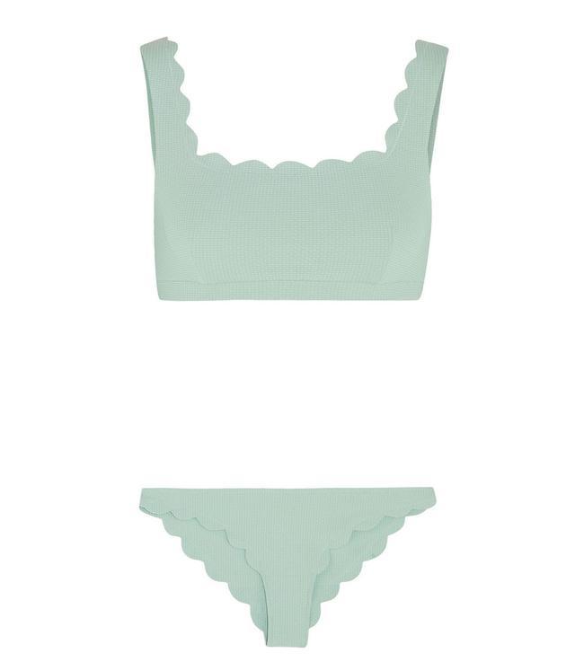 Marysia Palm Springs and Broadway Scalloped Bikini