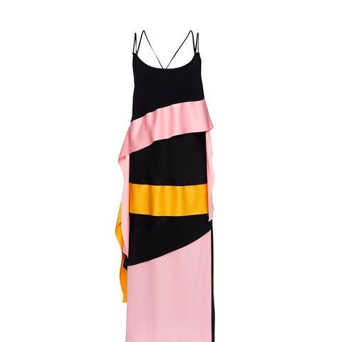 Inverse Satin Ribbon Streamer Dress