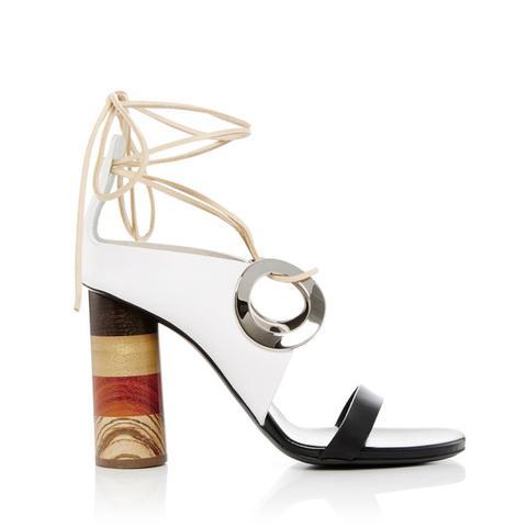 Grommet Tie Up Sandals