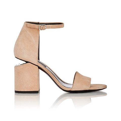 Suede Abby Sandal