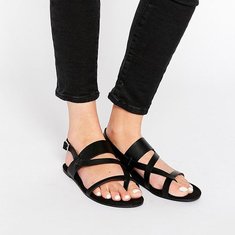 Flat Strap Holographic Sandal
