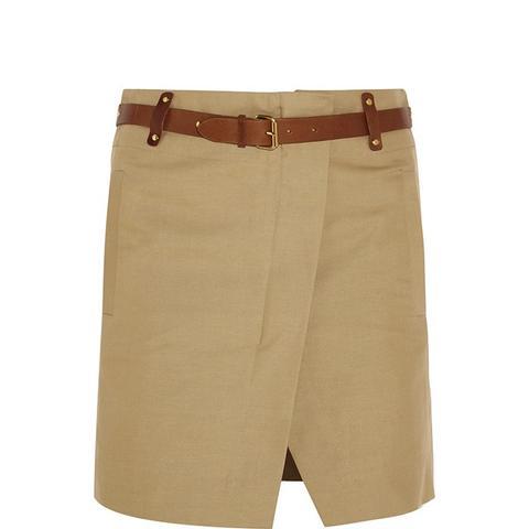 Handy Cotton and Linen-Blend Mini Skirt