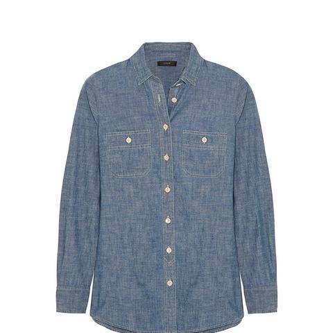 Selvedge Cotton-Chambray Shirt