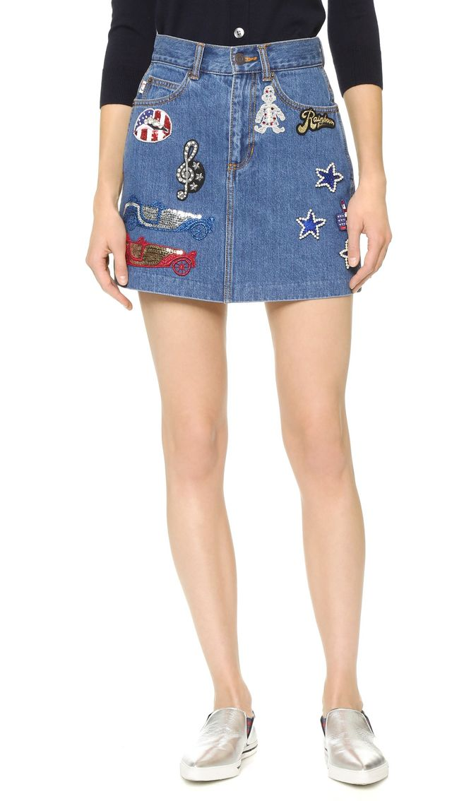 Marc Jacobs Sequined Patch Miniskirt