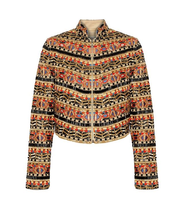 Alice + Olivia Mikayla Embellished Embroidered Cotton Jacket