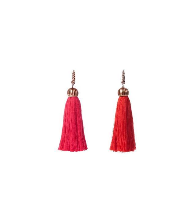 Lanvin Bi-Colour Tassel Earrings