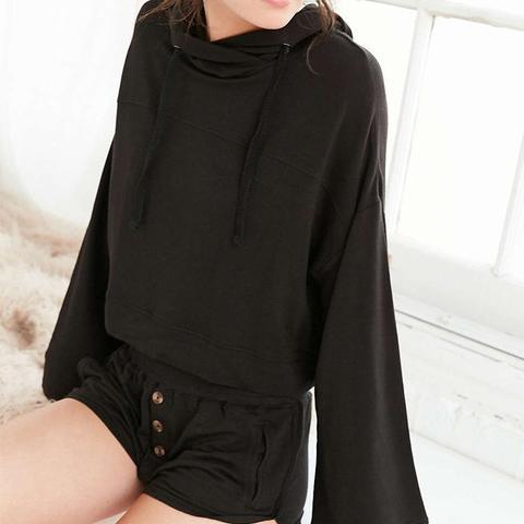 Drapey Hooded Sweatshirt